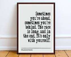 sunscreen luhrmann print quote poster art home decor quotes