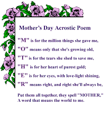 short poems for mom on mothers day