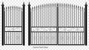 Fence Gate Wrought Iron Steel Sheet Metal Fence Outdoor Structure Fence Png Pngegg