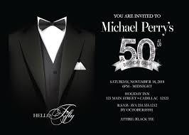 Men S 50th Birthday Invitation Adult 50th Birthday Party Etsy
