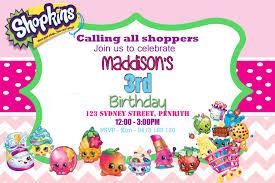 Shopkins Rosa Cumpleanos Invitacion 4 X 63 5 X 7 Etsy
