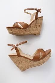 cute tan sandals wedge sandals cork