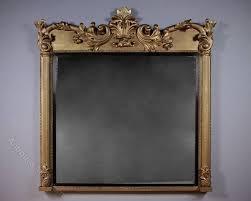 large gilt overmantle mirror c 1880