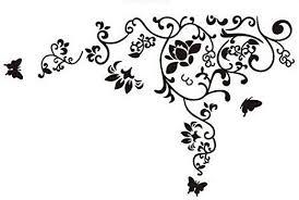 Amazon Com Kiki Monkey Black White Flower Vine Vinyl Wall Decal For Living Room Home Kitchen
