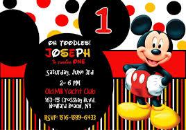 Invitacion De Cumpleanos De Mickey Mouse 1 Etsy Invitaciones