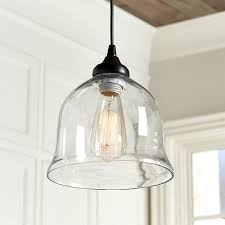 clear glass bell pendant shade
