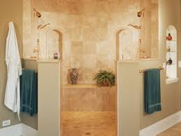 double sided marble tile shower