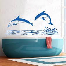 Zooyoo Dolphin Wall Decal Art Decor Sticker Bathroom Playroom Dolphin Wall Decoration Vinyl Murals Wallpaper Wl1537 Wall Stickers Aliexpress