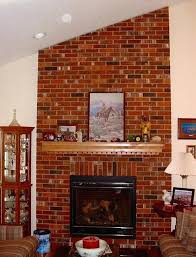 modern brick fireplace remodel painting