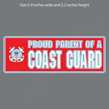Cg 5007 Uscg Proud Parent Of Coast Guard Military Bumper Sticker Window Decal Ebay
