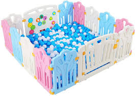 Amazon Com Plastic Baby Fence Children S Playpen Child Safety Activity Center Indoor And Outdoor Fall Prevention Fence Pet Supplies