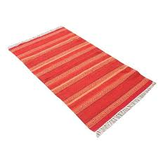 cotton striped dhurrie rug at rs 115