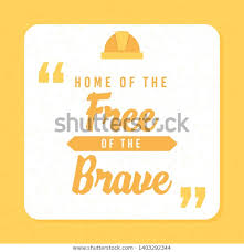 quote typographical home because brave royalty stock image