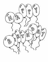 Kleuren Nu Happy Birthday Ballonnen Kleurplaten