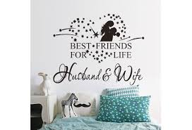 Newest Removable Wall Sticker Best Friends For Life Husband Wife Wall Quote Words Art Decals Wish