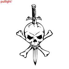 Cool Graphics Skull And Cross Bones Personalized Car Stickers Sword Interesting Motorcycle Vinyl Decals Vinyl Decal Car Stickermotorcycle Decals Aliexpress