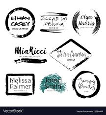 design logo templates vector image