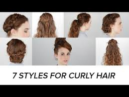 7 easy hairstyles for curly hair