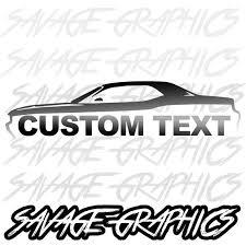 Custom Dodge Challenger Silhouette With Custom Text Vinyl Etsy
