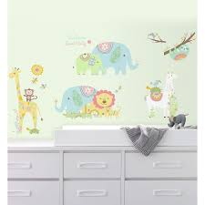 Jungle Animals Wall Decals 15ct Party City