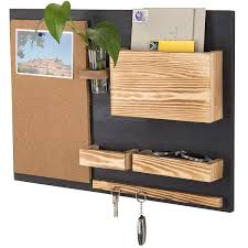 mygift wall mounted organizer with cork