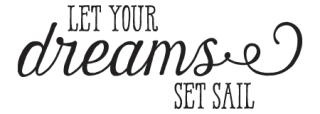 Let Your Dreams Set Sail Harman Wall Quotes Decal Wallquotes Com