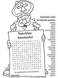 Kleurplaat Sinterklaas Woordzoeker Nr 10412 Kleurplaten Nl