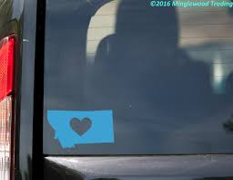 Montana Heart State Vinyl Decal Sticker 6 X 3 5 Love Mt Minglewood Trading