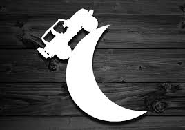 Moon Vinyl Decal For Wranglers Car Decal Moon Decal Etsy Moon Decal Wrangler Car Vinyl Decals