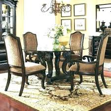 excellent dining room black round table