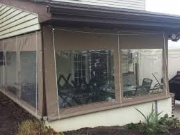 enclose a porch with clear vinyl drop