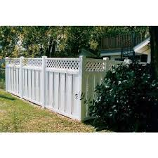 Melbourne With Lattice Vinyl Privacy Fence Country Estate Fence Deck And Railing Sweets