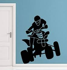 Amazon Com Fsds Vinyl Wall Decal 4 Wheeler Road Quad Man Cave Garage Home Decor Sticker Vinyl Decals Home Kitchen