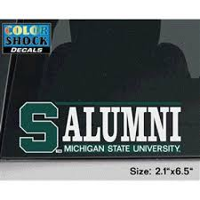 Michigan State Spartans Decal S W Alumni Over Michigan State University