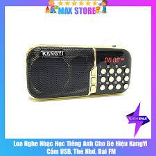 Loa nghe nhạc học tiếng Anh cho Bé Hiệu KangYi chạy USB, Thẻ nhớ tích hợp  Đài FM, Đèn LED