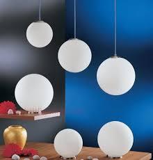 white glass ball pendant lamp modern