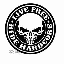 Ride Hard Live Free Biker Vinyl Cling Sticker Decal Truck Car Etsy