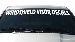 New Product Car And Truck Front Windshield Decals Thriftysigns