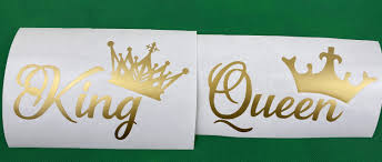 King Queen Gold Vinyl Car Decal New Gift In 2020 Gold Vinyl Decals Car Decals Vinyl Gold Vinyl