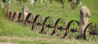 Old Steel Wagon Wheel Fence Photograph By Chad Davis