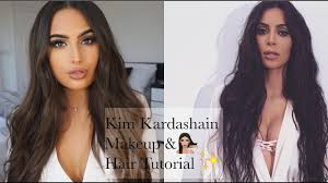 kim kardashian makeup hair tutorial