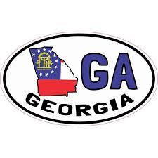 5inx3in Oval Ga Georgia Sticker Vinyl Car Truck Bumper Decal Cup Stickers Walmart Com Walmart Com
