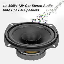 Hanmugy 4in 300W 12V Máy Nghe Nhạc Stereo Cho Xe Ô Tô Âm Nhạc Dàn Âm Thanh  Hi-Fi Tự Động Đồng Trục Loa Loa