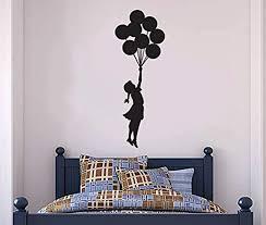 Amazon Com Wall Vinyl Decal Banksy Hanging Balloon Girl Banksy Banksy Vinyl Decor Sticker Home Art Print Tt10050 Home Kitchen