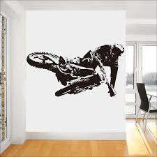 Mountain Bike Wall Stickers For Bedroom Kids Boys Room Wall Decals Home Living Room Decor Sticker Wallpaper Bike Art Mural C371 Wall Stickers Aliexpress