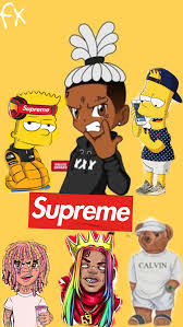 bart simpson lil pump wallpapers