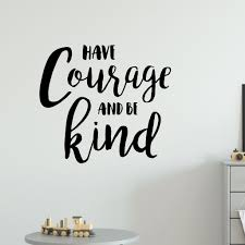 Have Courage And Be Kind Quote Wall Sticker Red Panda Wall Stickers