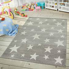 Amazon Com Paco Home Kids Rug With Star For Children S Room Starry Sky Design Size 5 3 X 7 3 Colour Grey Home Kitchen
