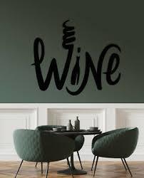 Vinyl Wall Decal Wine Bottle Alcohol Bar Word Logo Stickers 3296ig Ebay