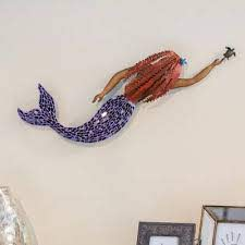 handmade iron and glass mosaic mermaid